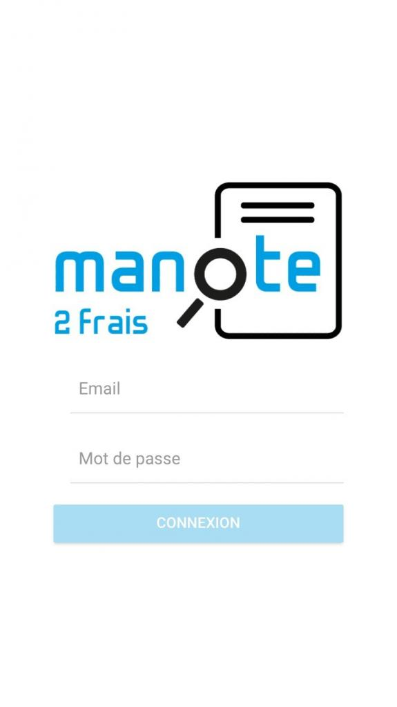 Application mobile - Page d'accueil